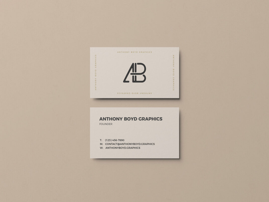 Simple Business Card Showcase Mockup FREE download