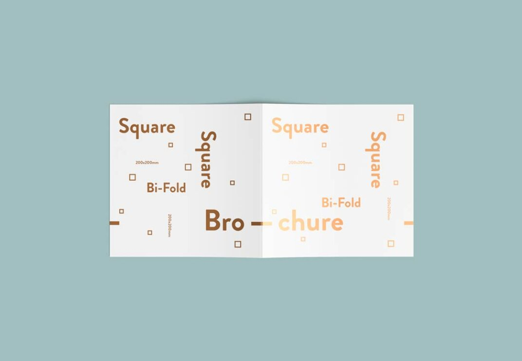 Square Bi-fold Brochure Mockup FREE download