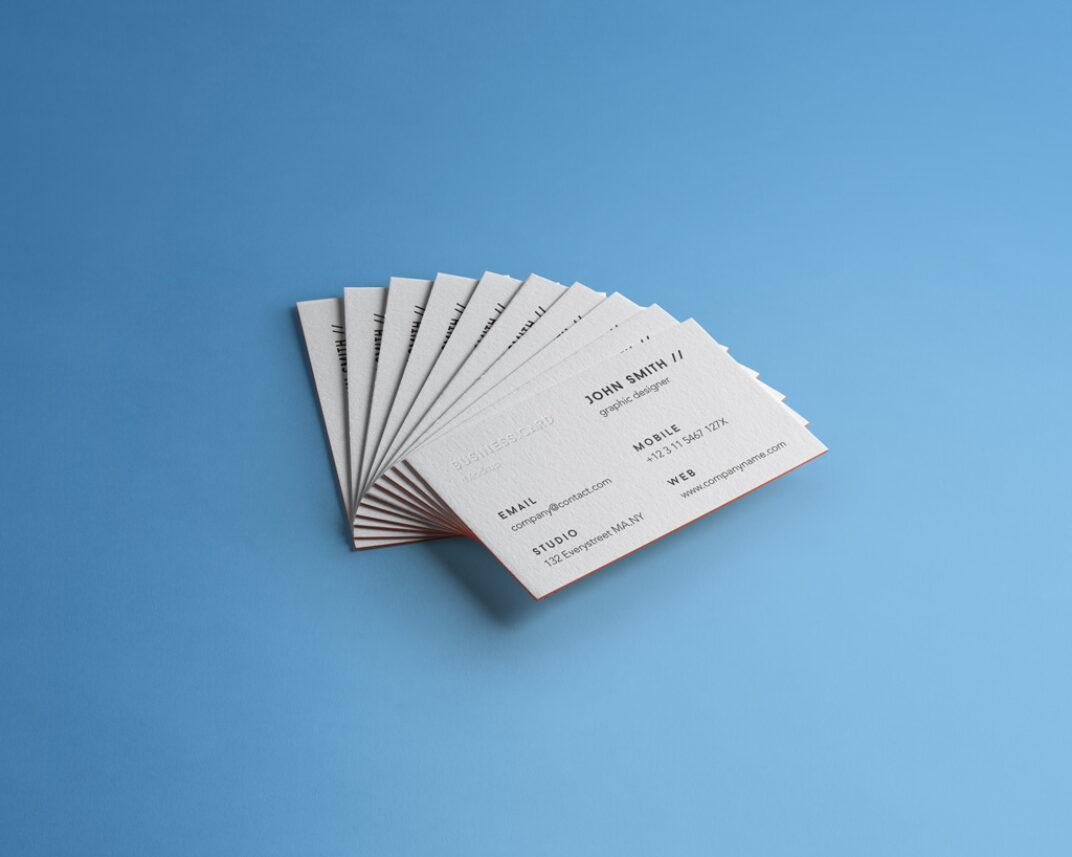 Stack of Business Cards  Mockup FREE download