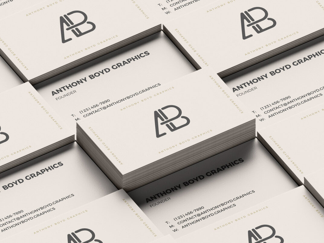 Stacks of Business Cards Mockup FREE download