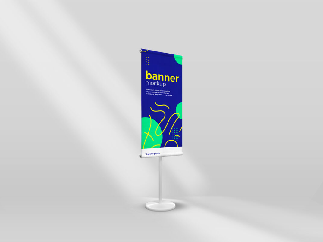 Standing Banner Mockup FREE download