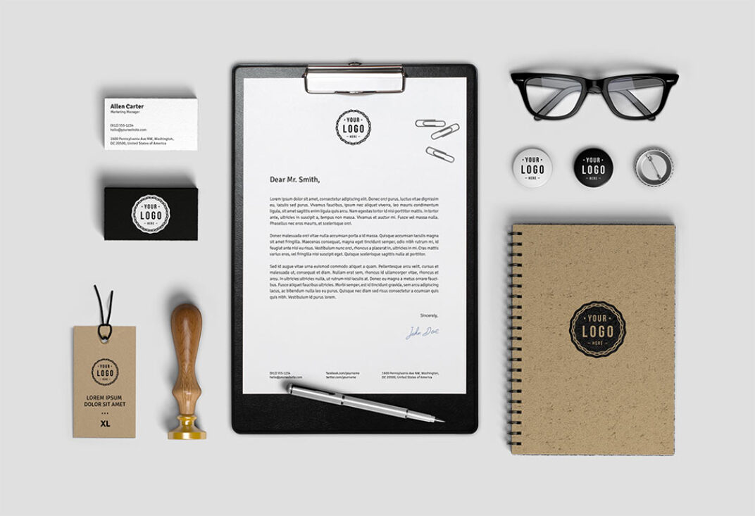 Stationary Mockup FREE download