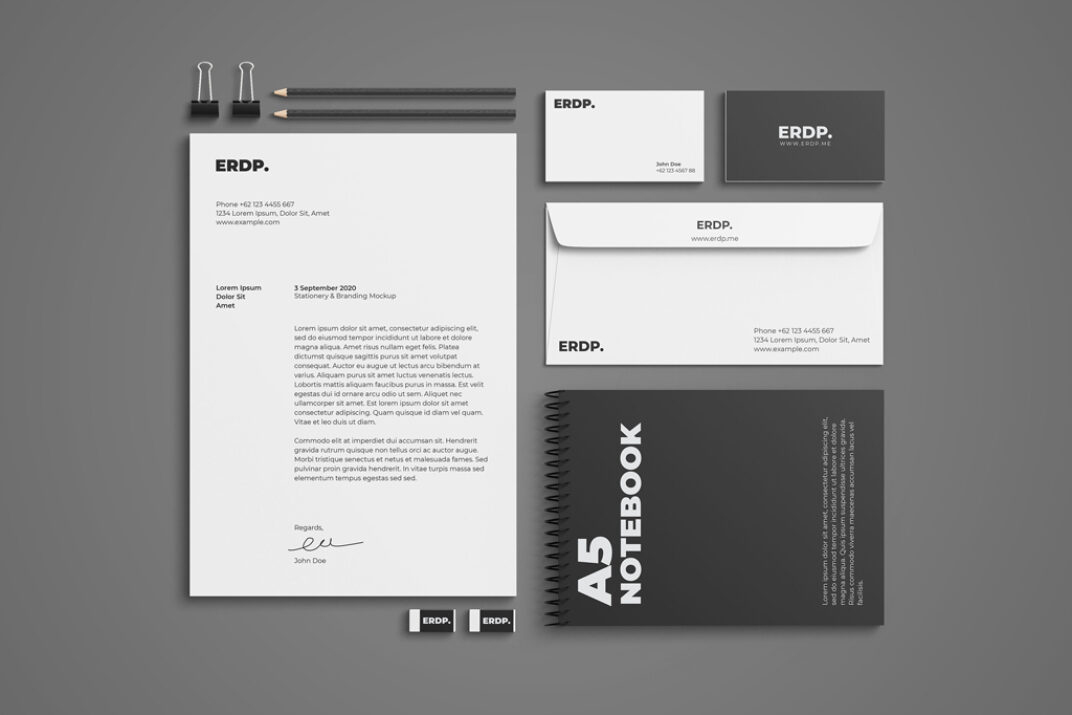 Stationery Mockup FREE download