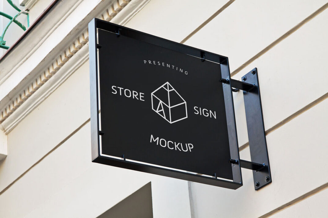 Store Sign Mockup FREE download