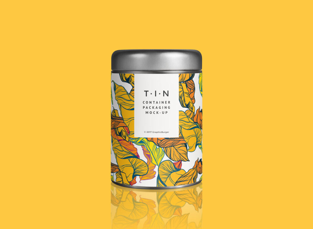Tin Container Mockup FREE download