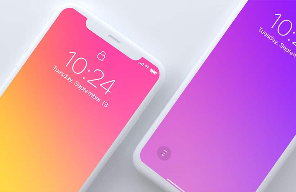 Top Light View iPhone X Mockup FREE download