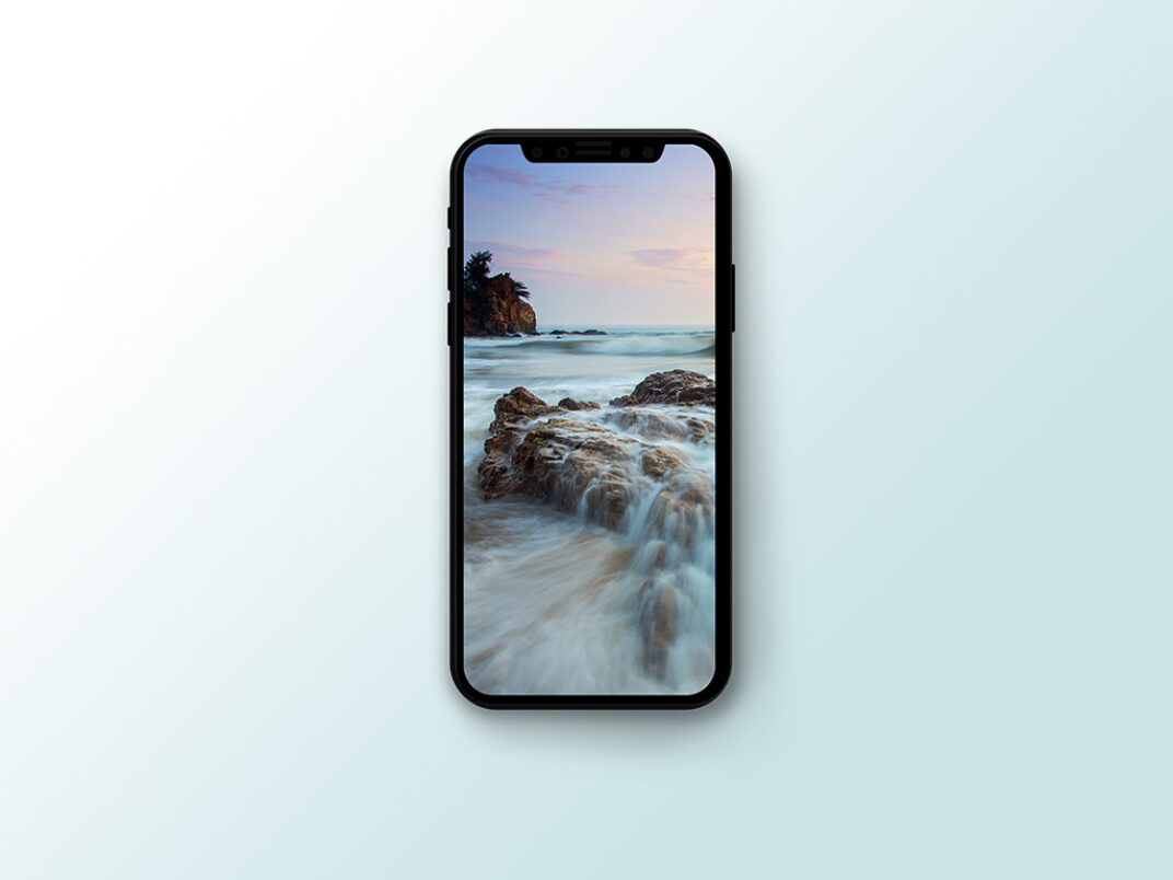 Vectorized iPhone X with Shadow Mockup FREE download