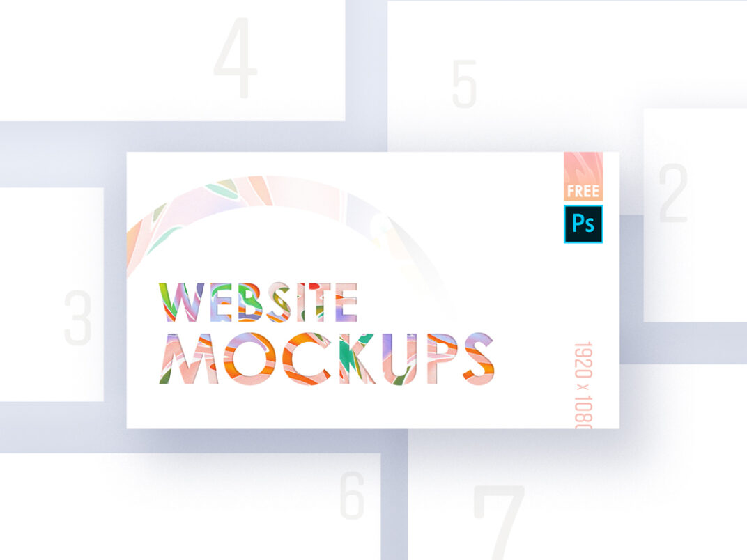 Website Showcase Mockup Bundle FREE download