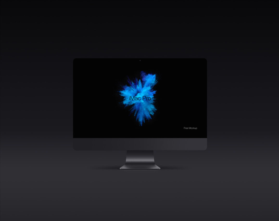 iMac Pro Vector Shapes Mockup FREE download