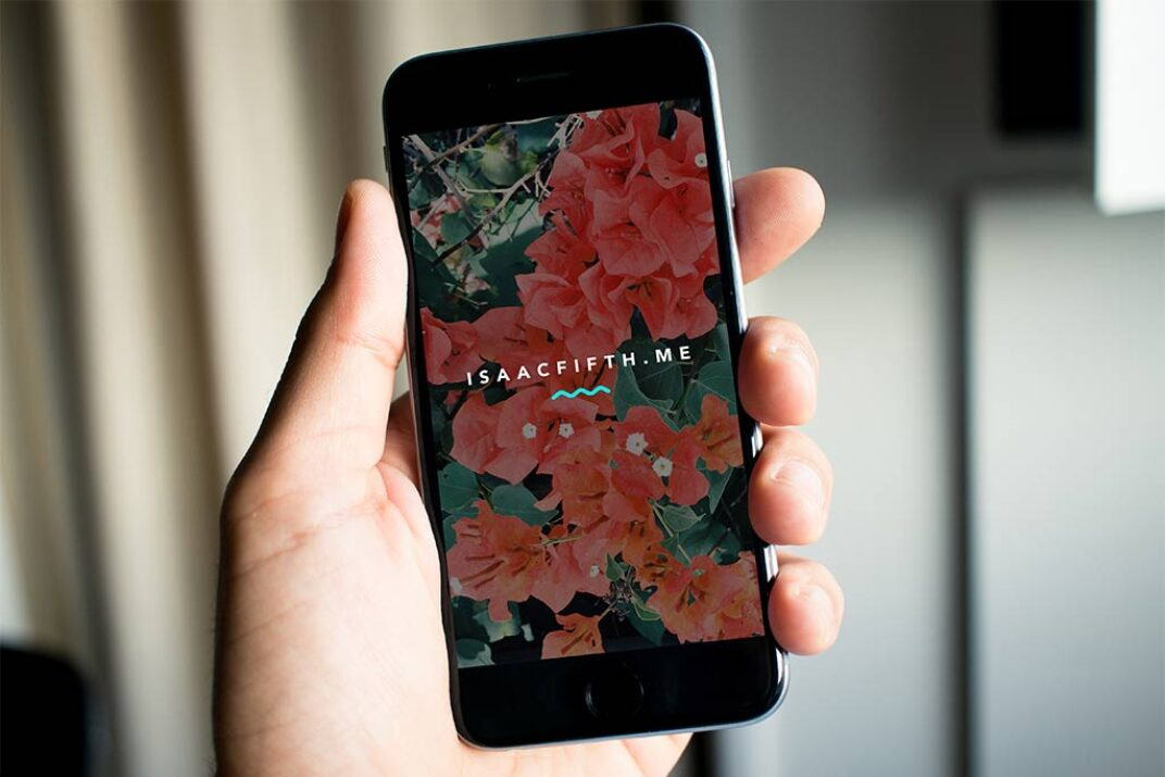 iPhone Closeup in Hand Mockup FREE download