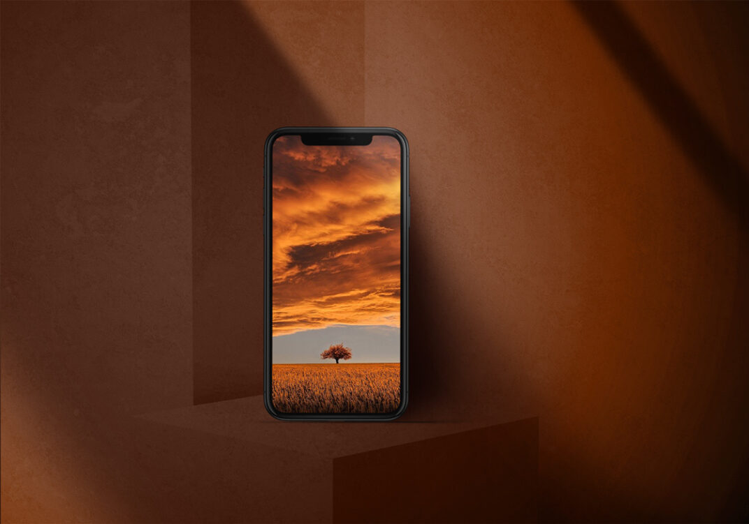 iPhone X Shadow Showcase Mockup FREE download