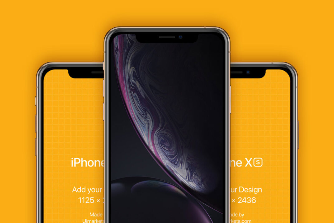 iPhone XS and XR Mockups FREE download